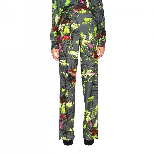 Pantalone Blumarine in cady a fantasia floreale