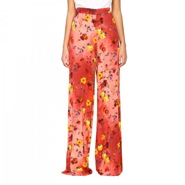 Pantalone Blumarine ampio a fantasia floreale