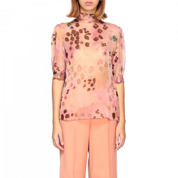 Camicia Blumarine in chiffon a fantasia floreale/maculata
