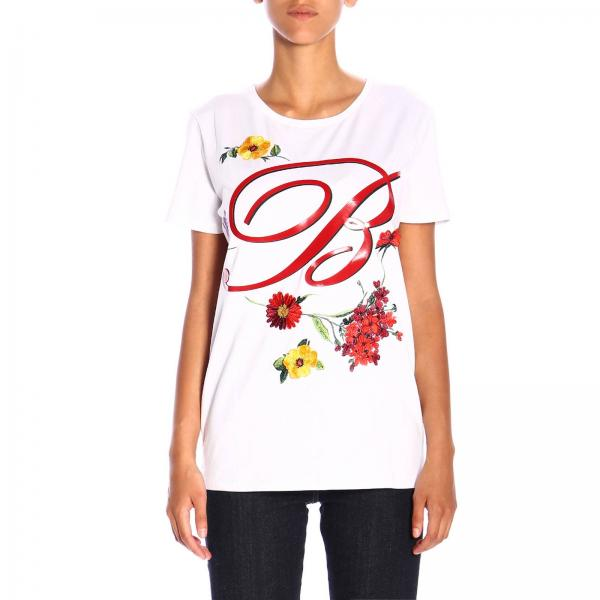 T-shirt Blumarine a maniche corte con maxi logo