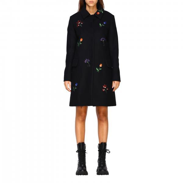 Cappotto Be Blumarine in panno di lana con ricami floreali