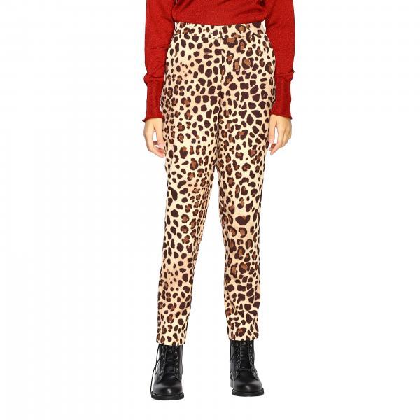 Pantalone Be Blumarine slim a fantasia animalier