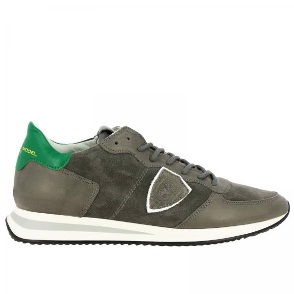 Philippe Model Tropez X 真皮绒面革系带运动鞋