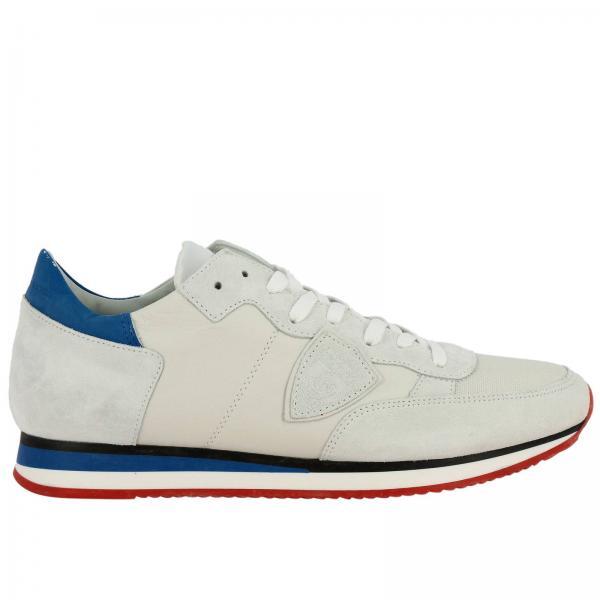 Sneakers Tropez Philippe Model stringata in pelle e camoscio con dettagli a contrasto