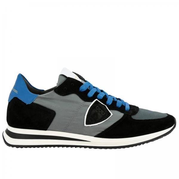 Philippe Model Tropez X 尼龙绒面革网眼细节系带运动鞋
