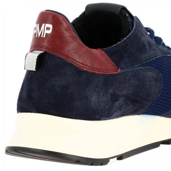 Sneakers Uomo Philippe Model Blue   Sneakers Montecarlo Stringata In Camoscio Pelle E Micro Rete Con Lacci Da Tracking   Sneakers Philippe Model Ntlu Xk04