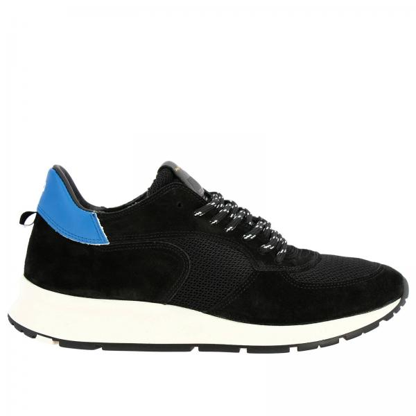 Philippe Model Montecarlo 绒面革真皮网眼徒步鞋带系带运动鞋