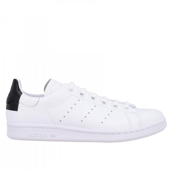 Stan smith sneakers pelle tallone nero quadrato