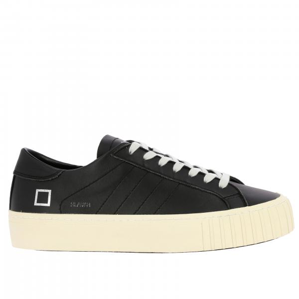 Sneakers Hill low wash D.A.T.E. stringata in pelle