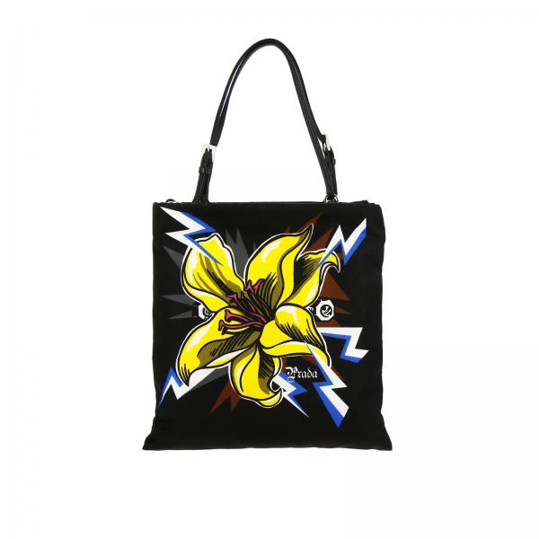 Prada shoulder bag in nylon with flower print