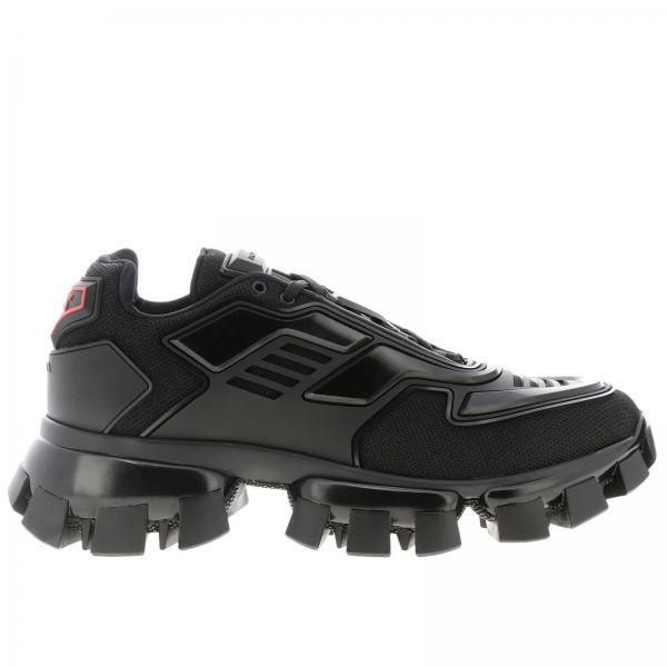 Sneakers Cloudbust thunder Prada stringata in pelle gomma e micro rete