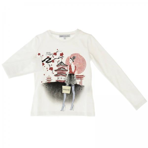 T-shirt Patrizia Pepe a maniche lunghe con stampa tokyo