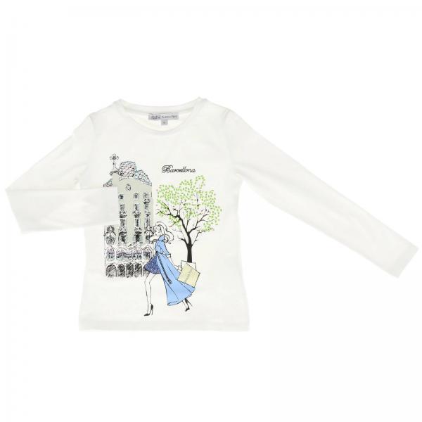 T-shirt Patrizia Pepe a maniche lunghe con stampa barcellona