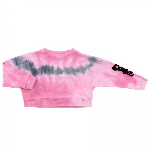 Barbie' felpa tye dye con logo manica