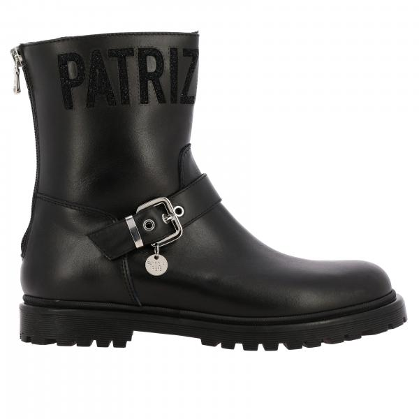 Patrizia Pepe boots in leather with logo