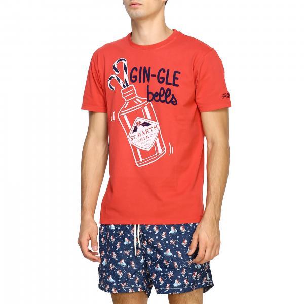 Gin Gle Mc2 41 Barth Corte Con Uomo A shirt Maniche RossoArnott T Stampa Maxi Saint gle Gin BdexoC