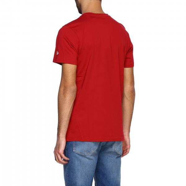 T Corte RossoA Con Uomo New Maniche shirt 12123935 Era Logo PkZXiu