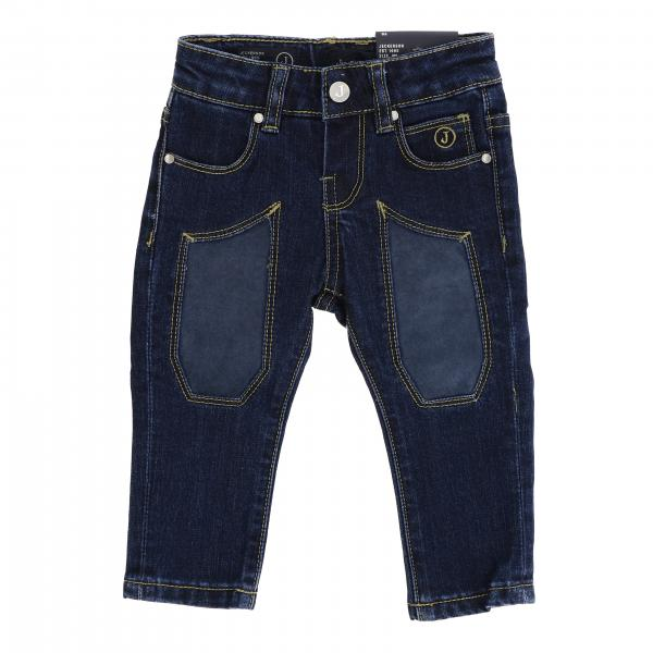 Jeans JN1392 Jeckerson slim a 5 tasche in denim stretch used con toppe