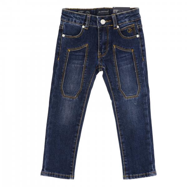 Jeans JB1280 Jeckerson slim a 5 tasche in denim stretch used con toppe