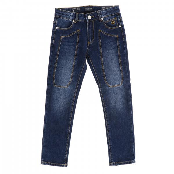 Jeans J1280 Jeckerson slim a 5 tasche in denim stretch used con toppe
