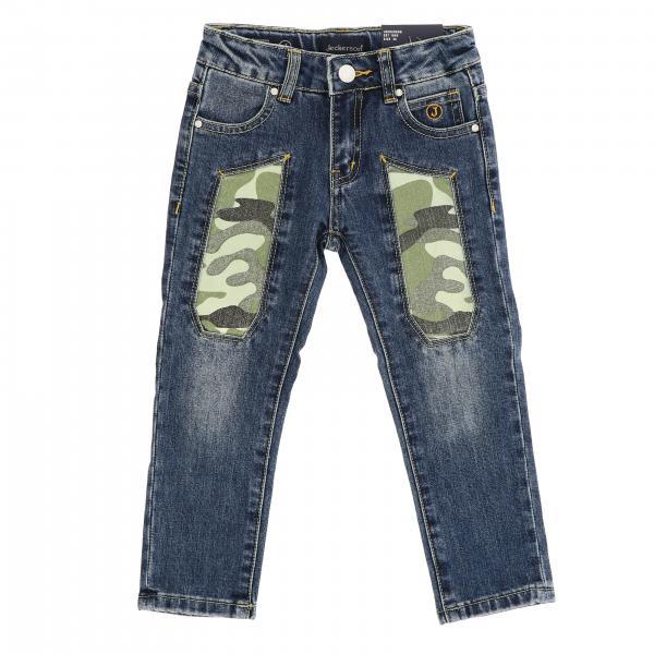 Jeans JB1288 Jeckerson a 5 tasche in denim con toppe camouflage