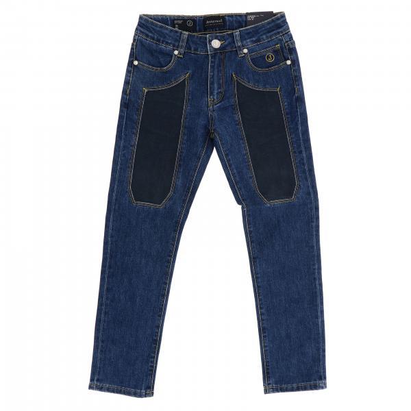 Jeans J1285 Jeckerson a 5 tasche in denim con toppe in Alcantara