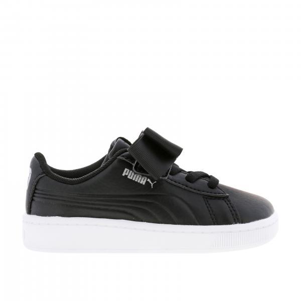 Vikky v2 ribbon sneakers pelle con fiocco lacci elastici