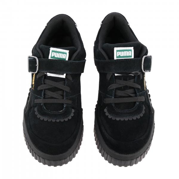 Sneakers Donna Logata Suola 370128 Puma Pelle NeroCali Tyakasha 45L3ARcjq