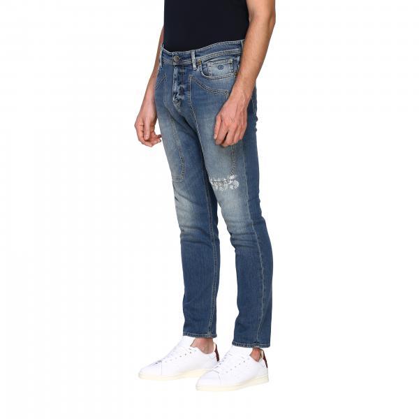 Jeans D040086 Con Uomo 17 Used Pa014 Jeckerson Stampa Stretch Toppe Stone Fondo WashedDenim oxBdrCe