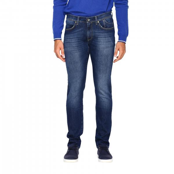 Jeans PA079 Jeckerson in denim stretch used con fondo 17
