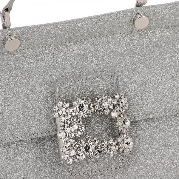 Borsa Donna ArgentoViv Roger Mini Tessuto Buckle K5u Vivier In Di Strass Glitter Rbwamaae101 Flower Cabs rCsdxQBth