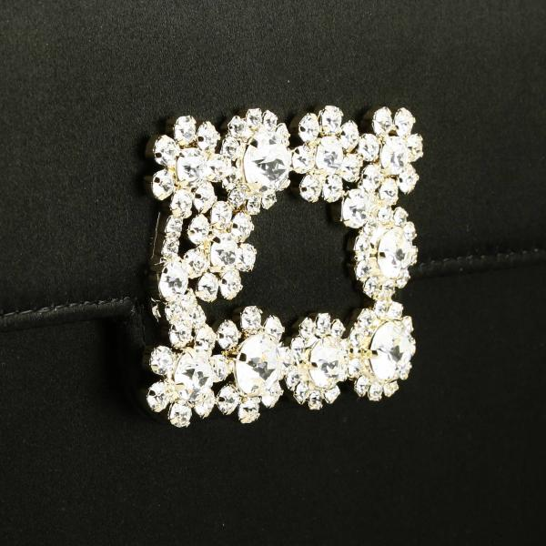 Flower Buckle VivierEnvelope Flap In Strass Clutch Di Rbwamfd0200 Rs0 Raso Donna Roger NO8wvn0m