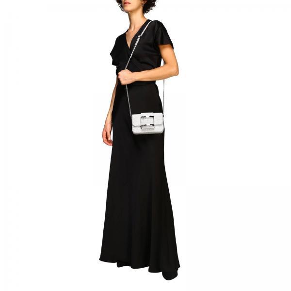 Mini Rbwanab1000 Donna Glitter Borsa Bag Mh1 Micro Roger Vivier ArgentoBorsatres If6gYby7vm