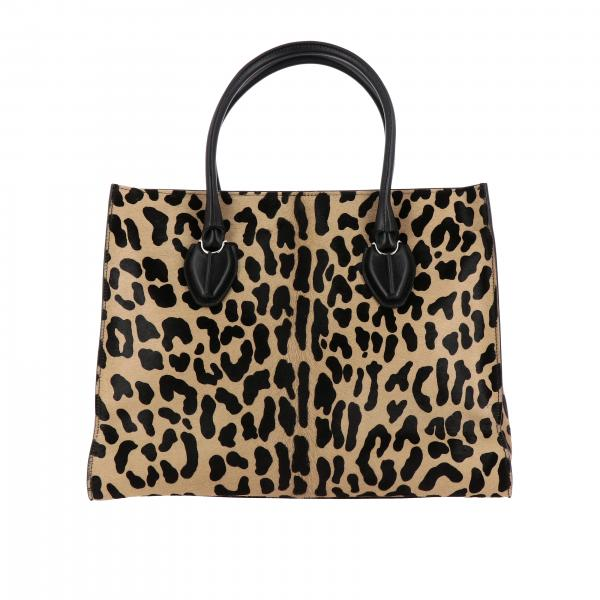 Borsa D shopping Tod's in cavallino animalier