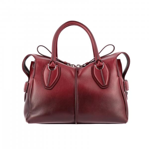 Bauletto D bag Tod's small in pelle sfumata con tracolla