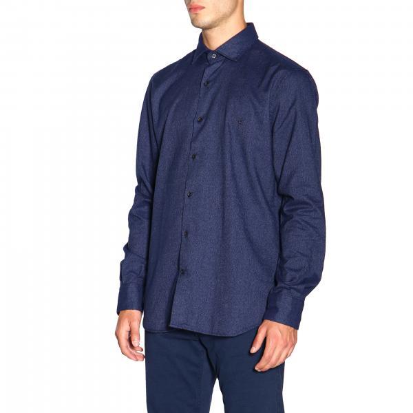 Q179 Uomo Brooksfield Camicia Con BlueOxford Francese Slim Washed 202a Collo 5Rj4LA