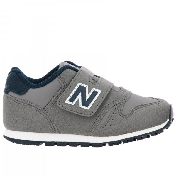 373 New Balance sneakers in suede and mesh with velcro