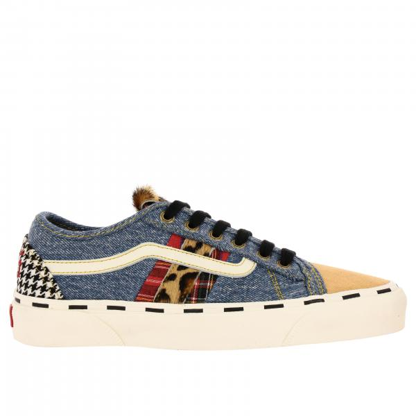 Bess ni sneaskers patchwork denim e tela