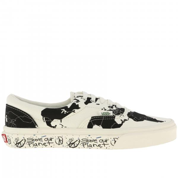 Sneakers Era Save our planet Vans in cotone con stampa world map