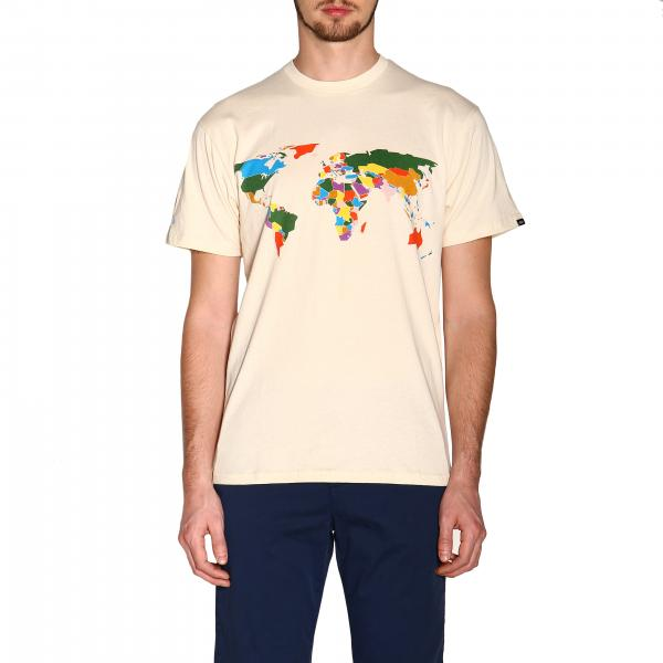 T-shirt Save our planet Vans a girocollo con stampa world map