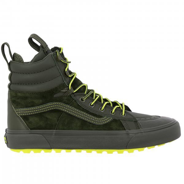 Sneakers Mte 360 sk8-hi boot Vans in tela e camoscio con dettagli fluo
