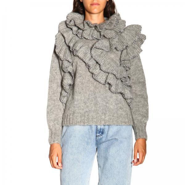 Alberta Ferretti Pullover aus Mohair-Wolle mit Rüschen