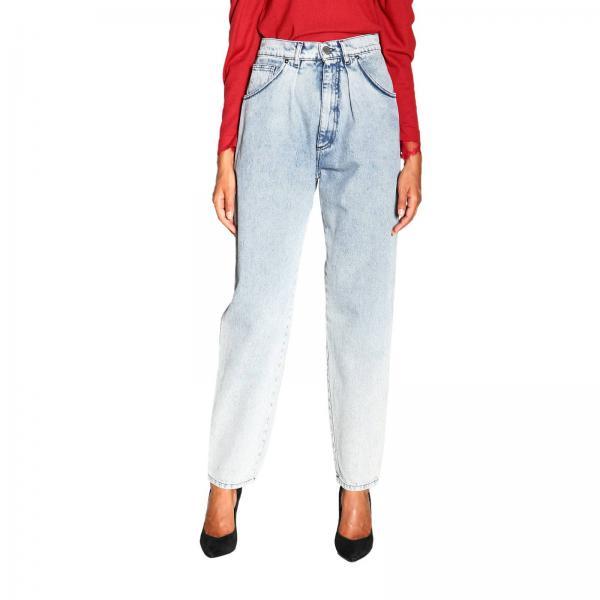 Alberta Ferretti Jeans mit hoher Taille aus gebrauchtem Denim