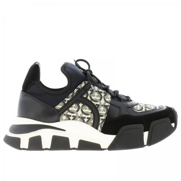 Sneakers Cimbra Salvatore Ferragamo con logo all over