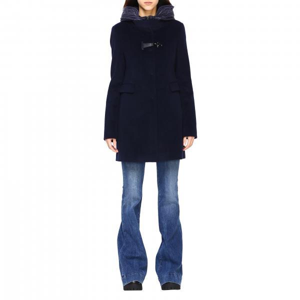 Cappotto Virginia Fay con pettorina in nylon imbottito alamaro e cappuccio
