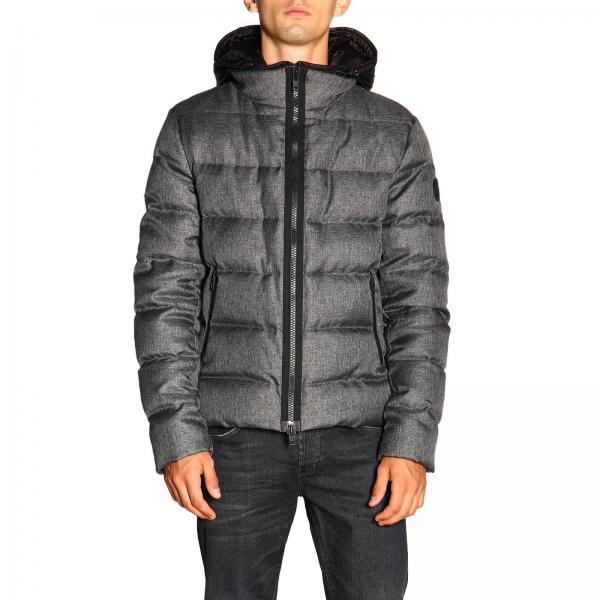 reputable site 5471c ab67a Piumino nathan fay corto impermeabile con effetto lana e cappuccio in nylon