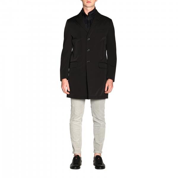 Fay Morning medium coat in waterproof nylon with removable waistcoat
