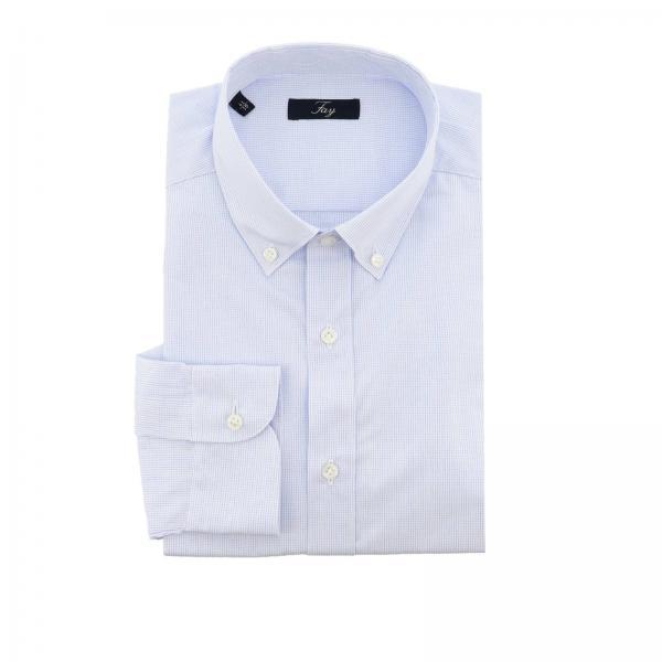 Chemise Fay à micro motif avec col button down