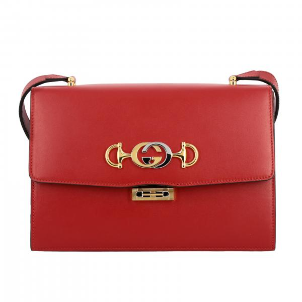 Gucci leather bag with shoulder strap