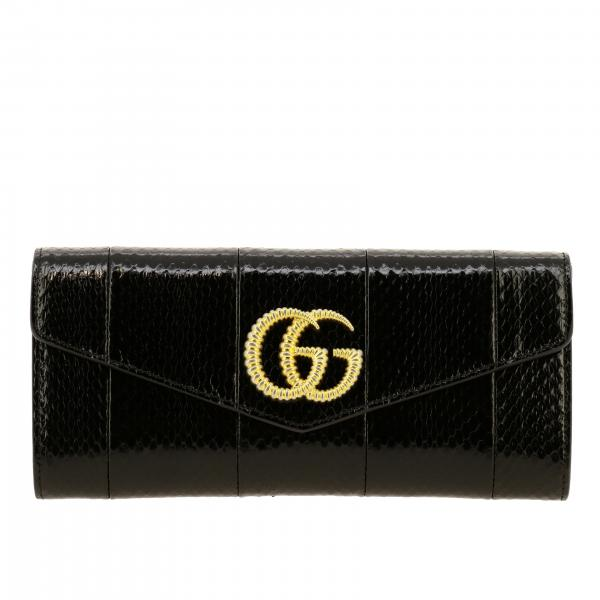 Clutch Broadway Gucci in pelle elaphe con maxi GG marmont